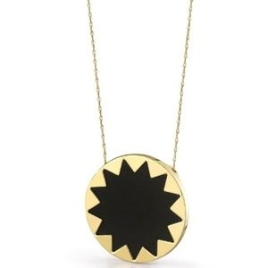 House of Harlow Sunburst Necklace - EUC - Black